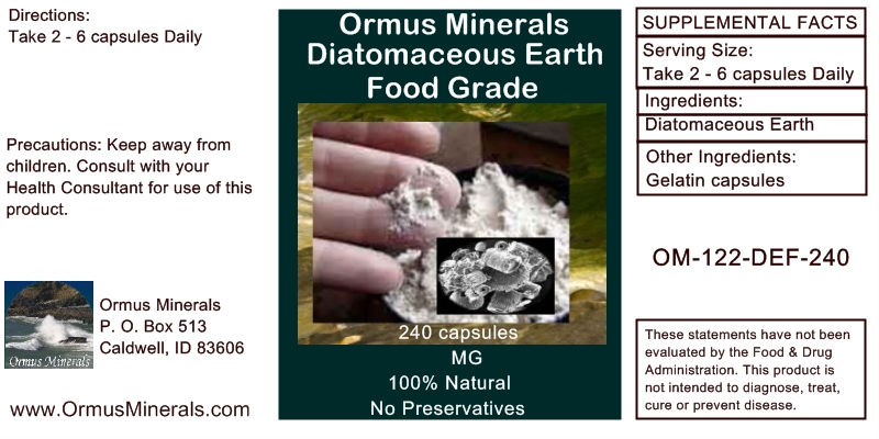 Ormus Minerals - Diatomaceous Earth Food Grade (caps)