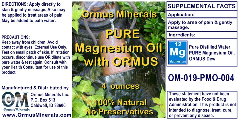 Magnesium Oil with Ormus
